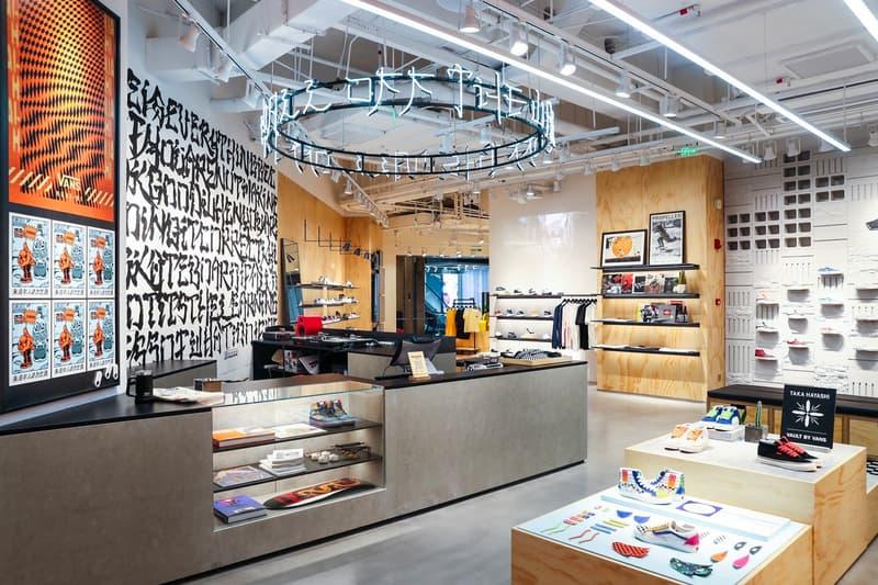 Vans Opens First Asia Boutique Shanghai tx huai hai road building brick and mortar store menswear streetwear sneakers shoes footwear