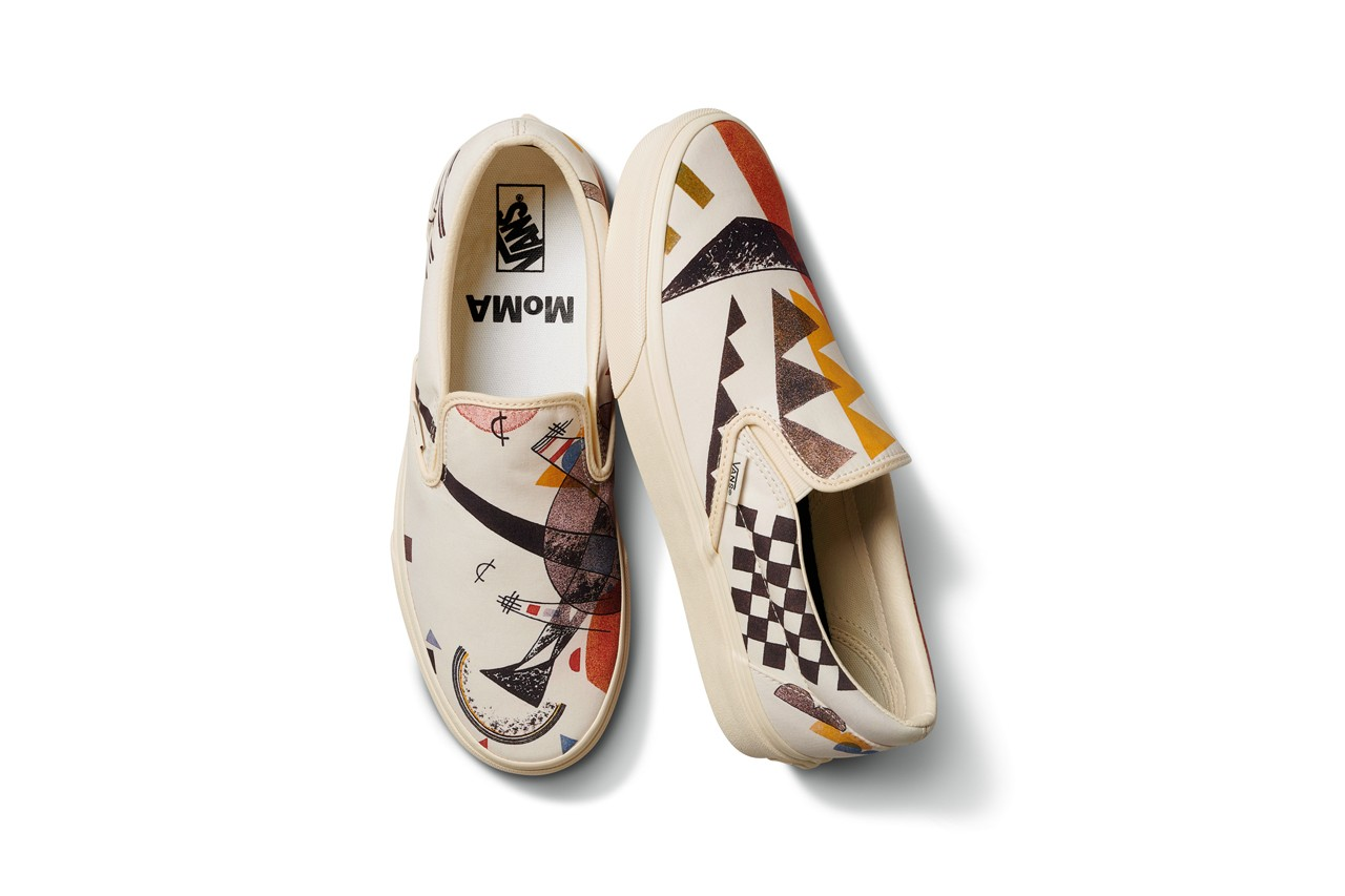 MoMA x Vans Footwear and Apparel Collection salvador dali kandinsky claude monet classic slip-on old skool twist ComfyCush Old Skool Era museum of modern art