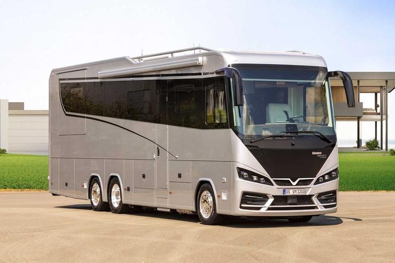 VARIOmobil Perfect 1200 Platinum Motorhome RV $1.7M USD Benz Actros 2453 Mercedes-AMG GT 10.7-liter turbo-diesel six-cylinder engine Luxury Automotive Travel Design