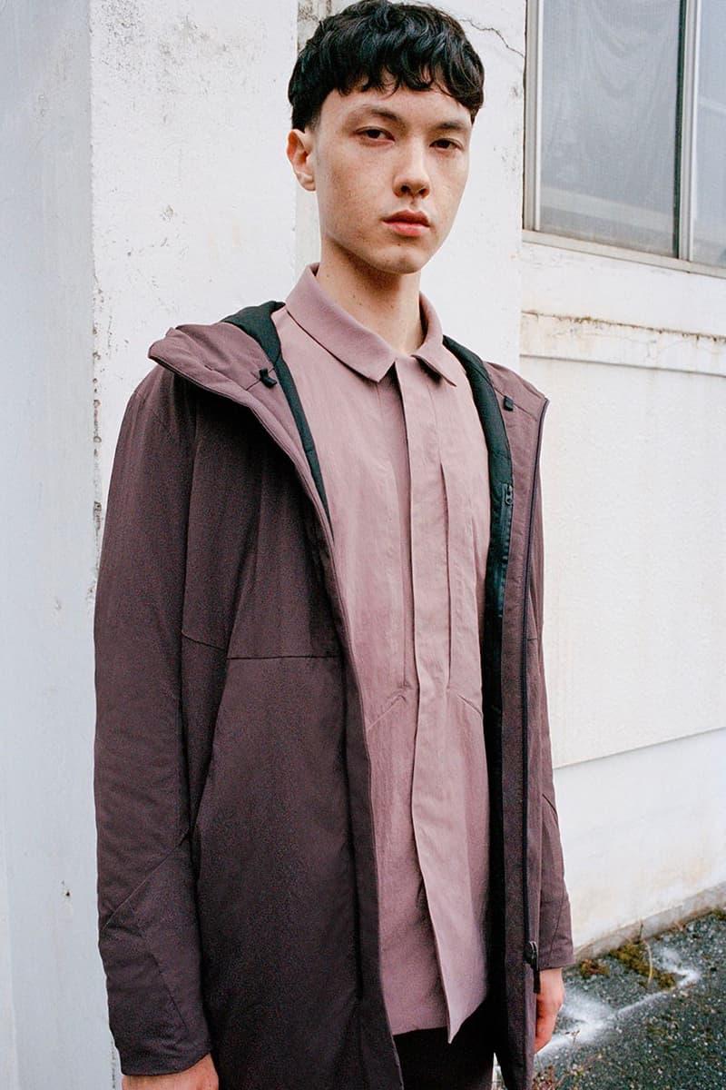 VEILANCE Fall Winter 2020 Lookbook menswear streetwear collection jackets coats weatherproof outdoor shirts trousers suits