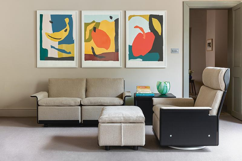 vitsoe vitsœ dieter rams linen upholstery 620 modular chair information release details buy cop purchase