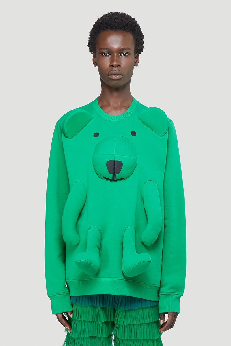 Walter Van Beirendonck Bear Sweatshirt Green LN-CC Release Information Drop Menswear Belgian Design Antwerp Six Fall Winter 2020 FW20 Technical Fabrication