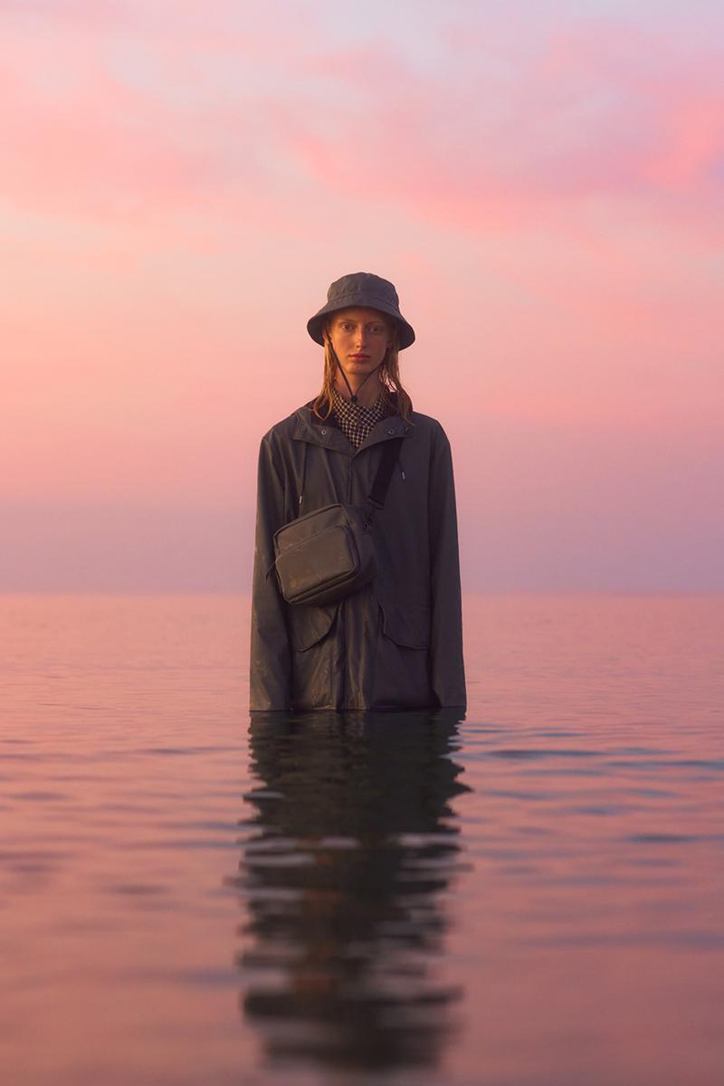 "Wood Wood by RAINS Fall/Winter 2020 Collection FW20 Raincoats Coats Bags Hats Archives Denmark Danish Design Fashion Unisex ""Bubble-Arrow"" Lookbook"