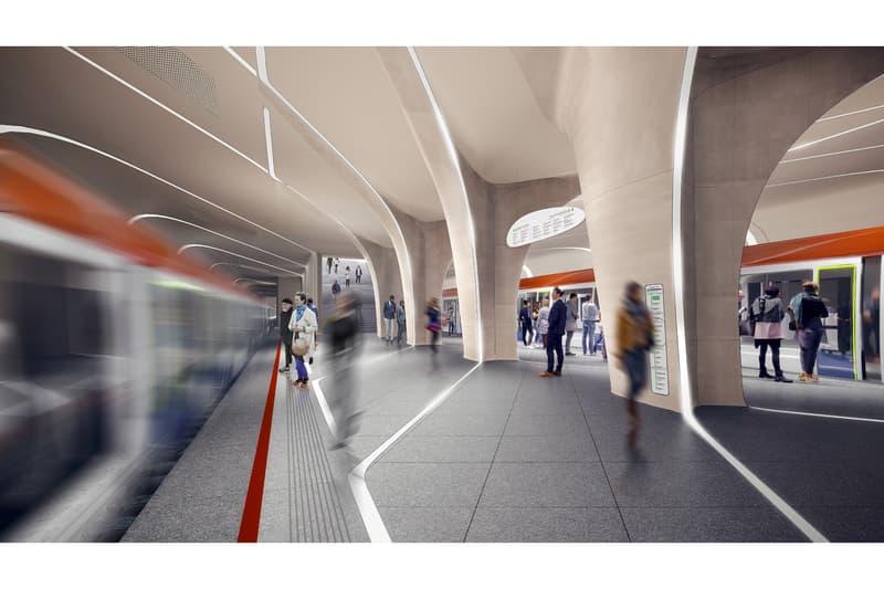 Zaha Hadid Architects Moscow Train Station Design russia Klenoviy Boulevard Station 2 metro system