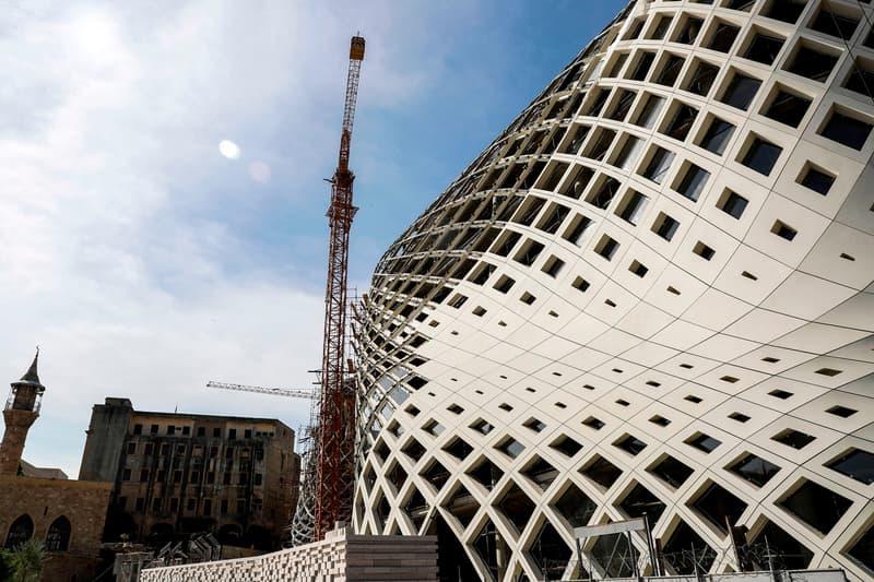 zaha hadid building beirut lebanon fire economic crisis
