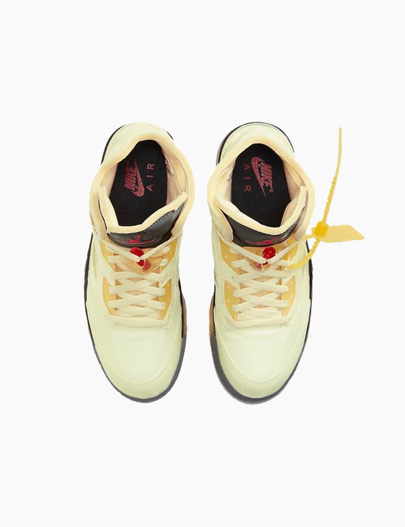 "Off-White™ x Air Jordan 5 ""Sail"" Release 2020 Where to Buy"