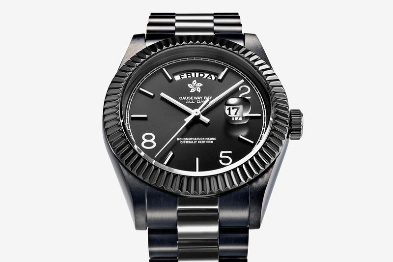 """8FIVE2 Releases Triple Black Version of """"ALL DAY"""" Watch accessories day-date rolex watches IP plating quartz miyota"""