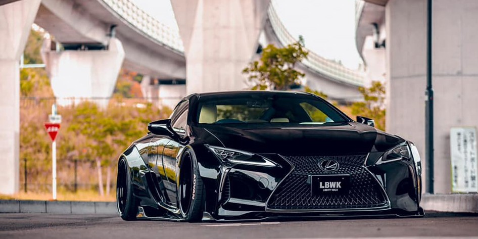 Liberty Walk Gives the Lexus LC500 a Wide Body Makeover