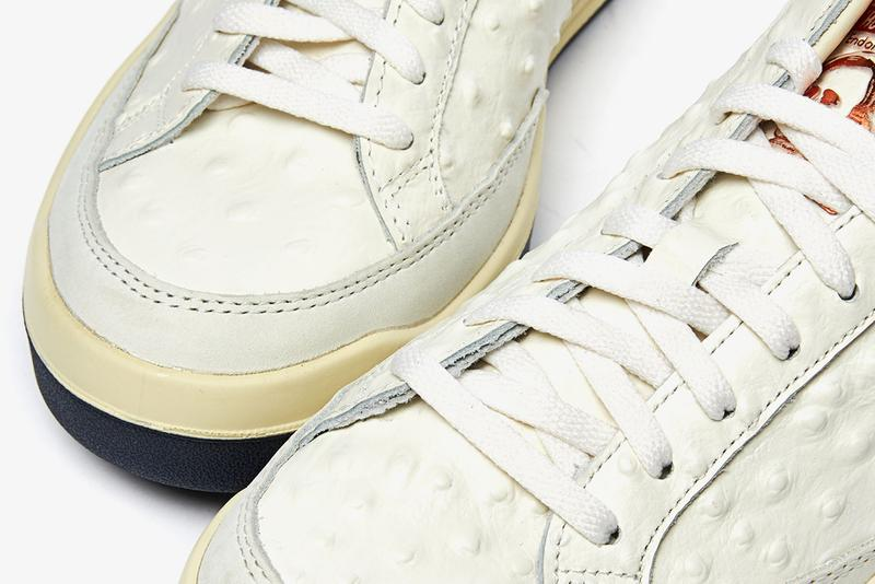 """adidas Consortium Rod Laver Tennis Shoe Collection Capsule White Leathers Reptile Ostrich Cracked Aniline """"Core White/Collegiate Navy"""" FY4491 fy4493 fy4492 fy4494"""