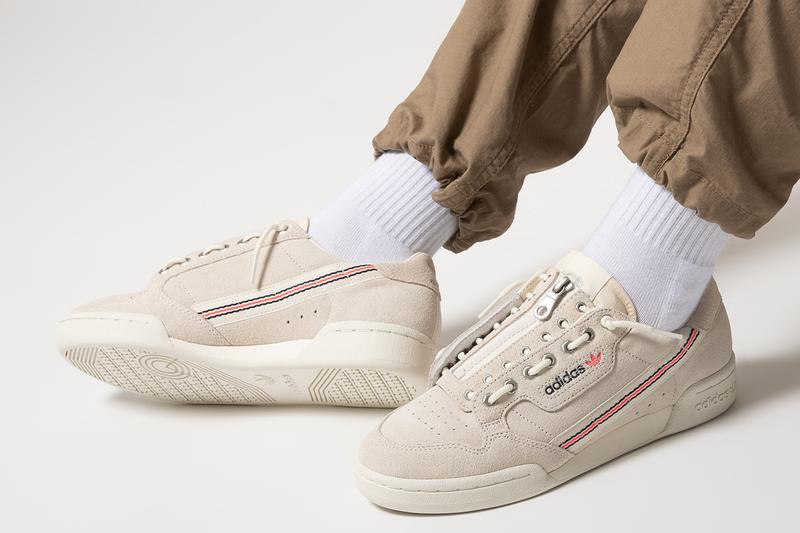 """adidas Originals Continental 80 """"Cloud White"""" fu9765 Lace Zip Up Lock Function Hairy Suede Three Stripes OG Classic Shoe Footwear Sneaker Drop Date Release Information Technical Skate 80s"""