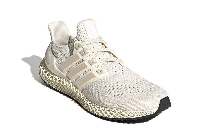 """adidas Ultra4D """"Footwear White/Core White"""" FX4089 Release Information First Look Drop Date Cop Three Stripes Future Four Dimension Light Oxygen Resin Technology Footwear Shoe Sneaker Trainer UltraBOOST OG White Cream"""