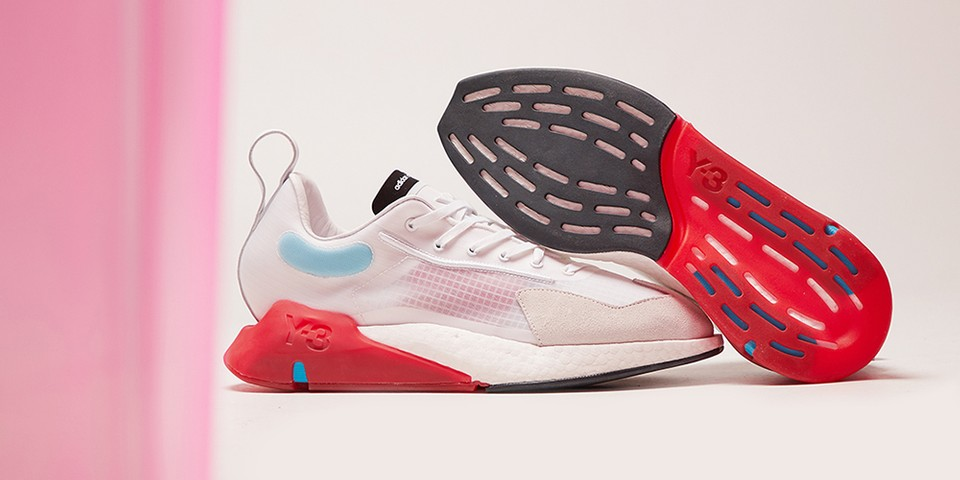 """Y-3 Covers Orisan Silhouette in Hits of Red and """"Cyan"""""""