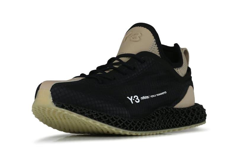 "adidas Y-3 Runner 4D IO ""BLACK/TRACE KHAKI"" ""Footwear White/Black"" Release Information Drop Date Closer First Look Yohji Yamamoto Three Stripes Technical Running Shoe Sneakers Trainera Footwear 3D Printing Light Oxygen Transfer Primeknit  fx1058 fx1059"