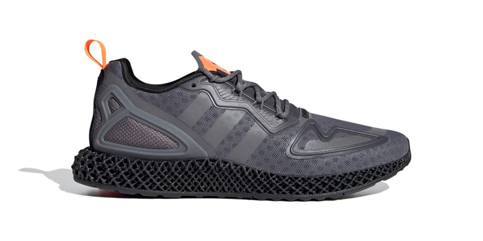 "adidas Unveils Forthcoming ZX 2K 4D ""Grey Four/Solar Orange"""