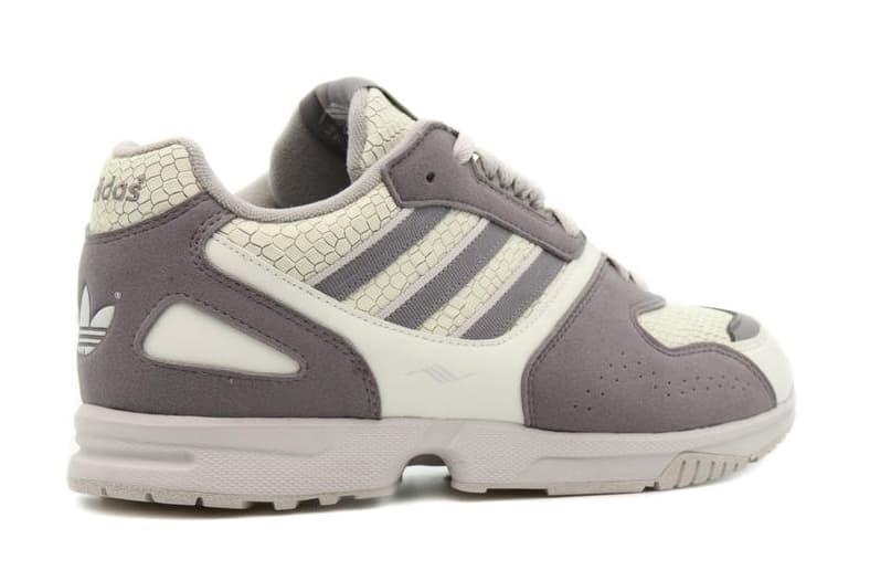"adidas Originals ZX 4000 ""Orbit Grey / Dove Grey / Metal Grey"" FW5784 Italian Glow In The Dark Snakeskin Leather Uppers Stabilizing Torsion System"