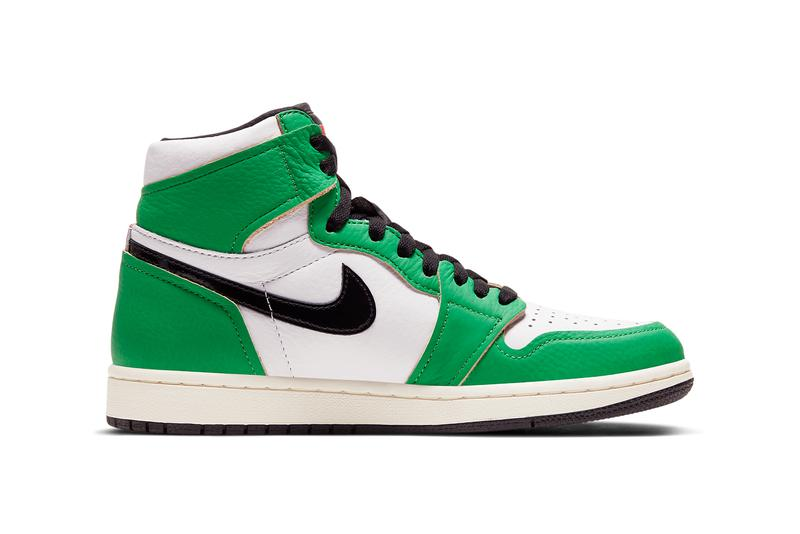 air jordan brand 1 lucky green red white sail black red DB4612 300 official release date info photos price store list buying guide michael boston celtics 63 points chicago bulls 1986 nba playoffs