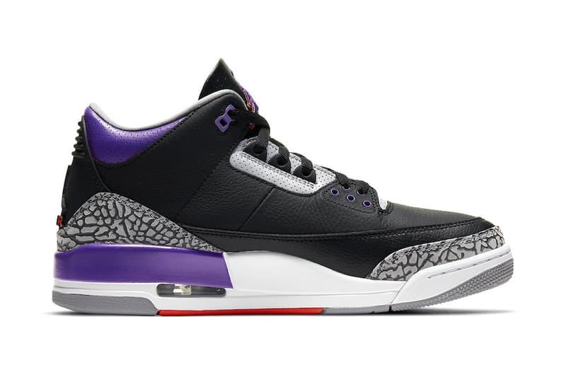 Air Jordan 3 Court Purple Release ct8532-050 Info Date buy Price Brand Black Cement Grey White Court Purple Phoenix Suns