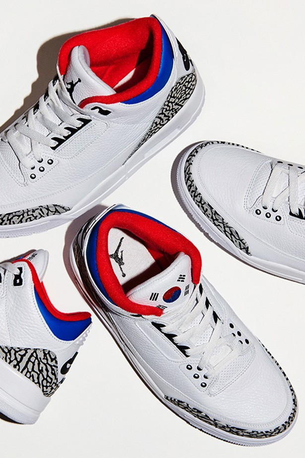 air jordan 3 seoul korea nike snkrs exclusive draw raffle white red blue cement official release date info photos price store list buying guide