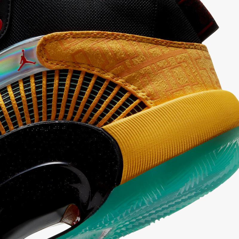 air jordan brand 35 dynasties yellow jade black red DD3044 700 official release date info photos price store list buying guide