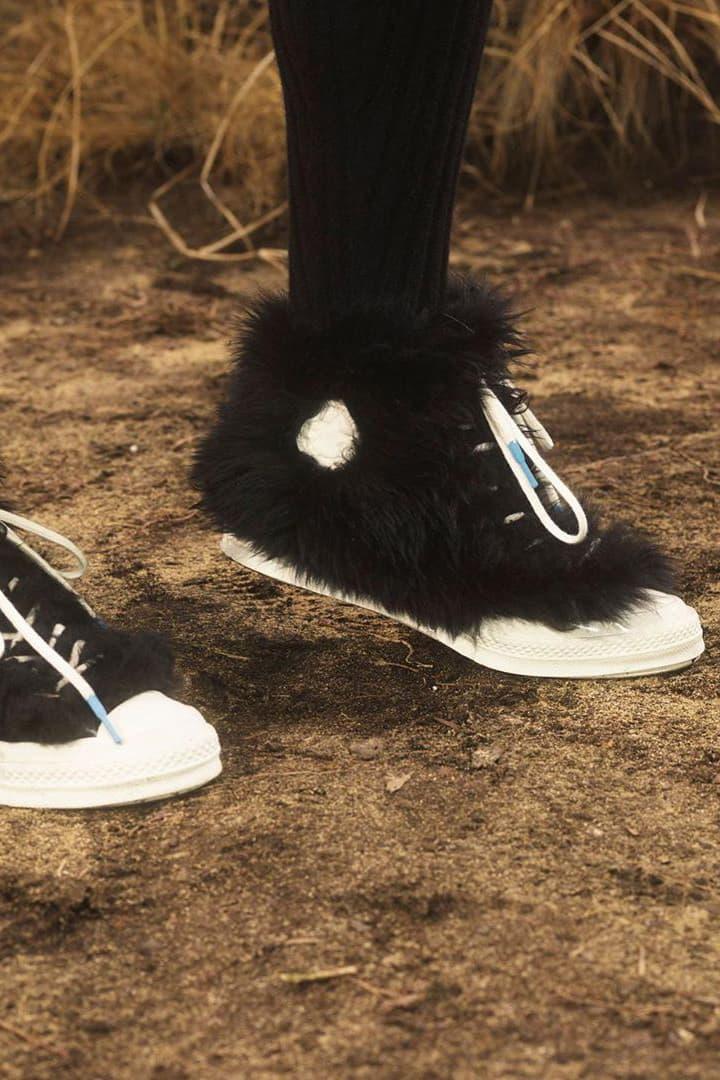 AMBUSH x Converse Chuck 70 Collaboration Furry Fluffy Hairy Covered Yoon Ahn Black White Blue Tease Release Information Closer Look Leak