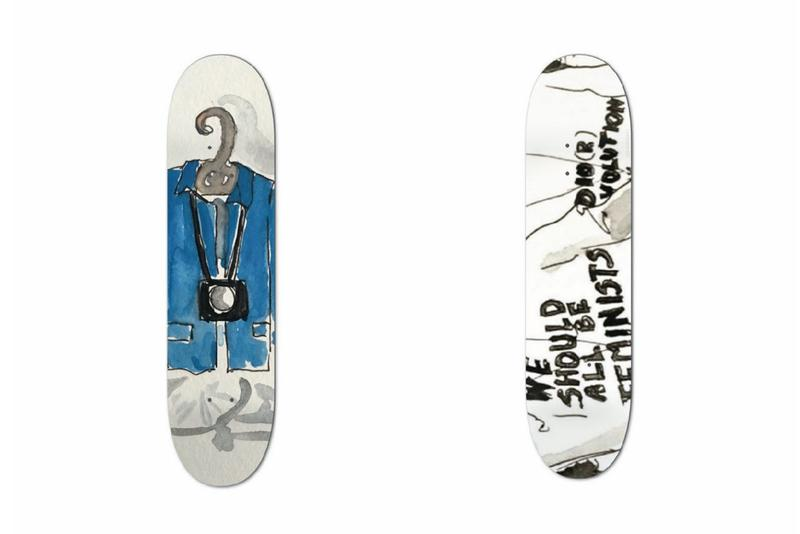 An Outkast Hand-Painted Skate Deck Collection boards buy store bill cunningham rick owens miu miu basquiat we should all be feminists dior tee shirt karl lagerfeld chanel damien hirst
