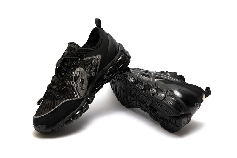 asics nu label gel quantum 360 6 release information collaboration all black trainers sneakers