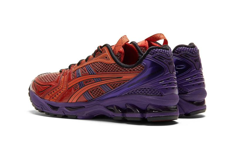 Asics gel Kayano 14 red blue purple release information when do they drop where to cop how much