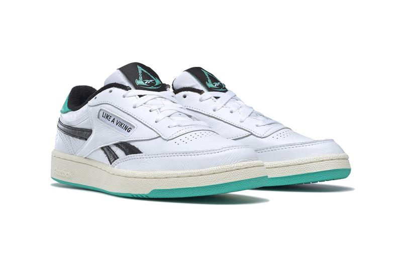 assassins creed valhalla reebok club c revenge GZ8460 white utility beige silver metallic black tiffany blue official release date info photos price store list buying guide