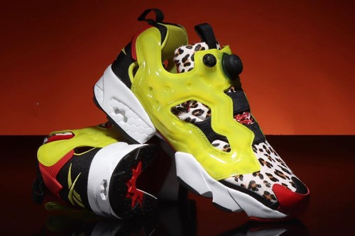 "atmos x Reebok Instapump Fury ""Citron Animal"" Is Awash in Bright Colors and Jaguar Print"