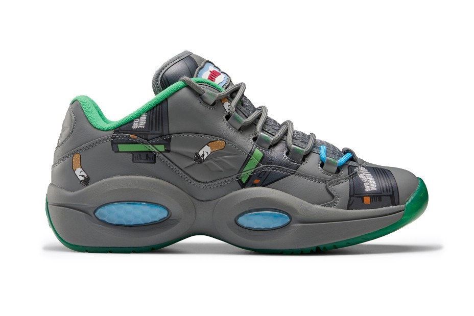 billionaire boys club bbc ice cream reebok question sneaker collaboration name chains beepers butts and pattern print sk8thng pharrell williams fz4342 fz4341 low