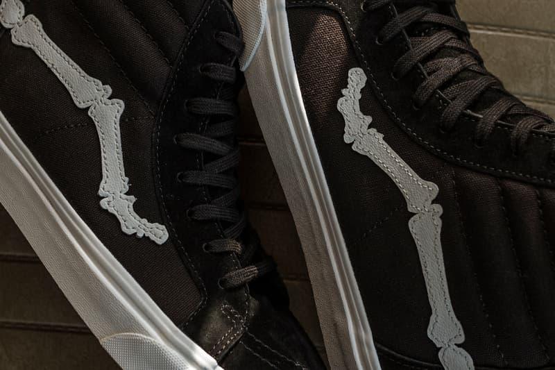 Blends x Vans Vault Sk8-Hi Zip Reissue Release Information Drop Date Closer Look Black Canvas Suede White Leather Bones Jazz Stripe Custom Limited Edition Collaboration