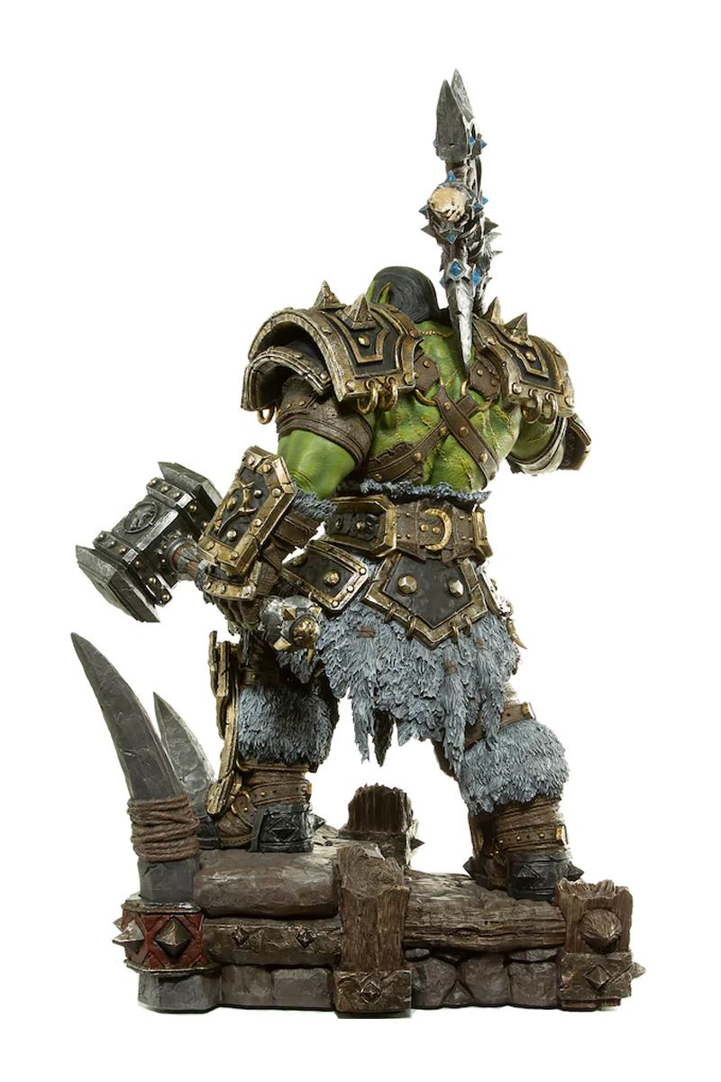 blizzard world of warcraft horde warchief thrall orc statue polyresin toys collectibles