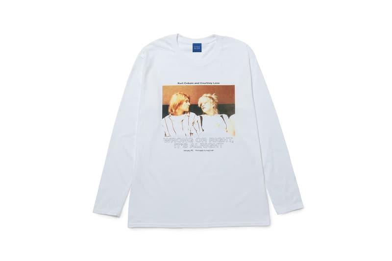 "Bonjour Records Kurt Cobain Courtney Love Kenji Kubo ""WRONG OR RIGHT, IT'S ALRIGHT"" Graphic Photo Album T-Shirt Homage Tee Hoodies Nirvana"