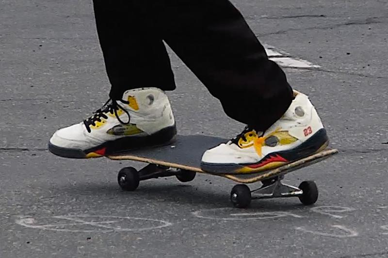Burberry.erry Erik Arteaga Skates Off-White Air Jordan 5 Sail Virgil Abloh Release Info Date Buy Price Watch
