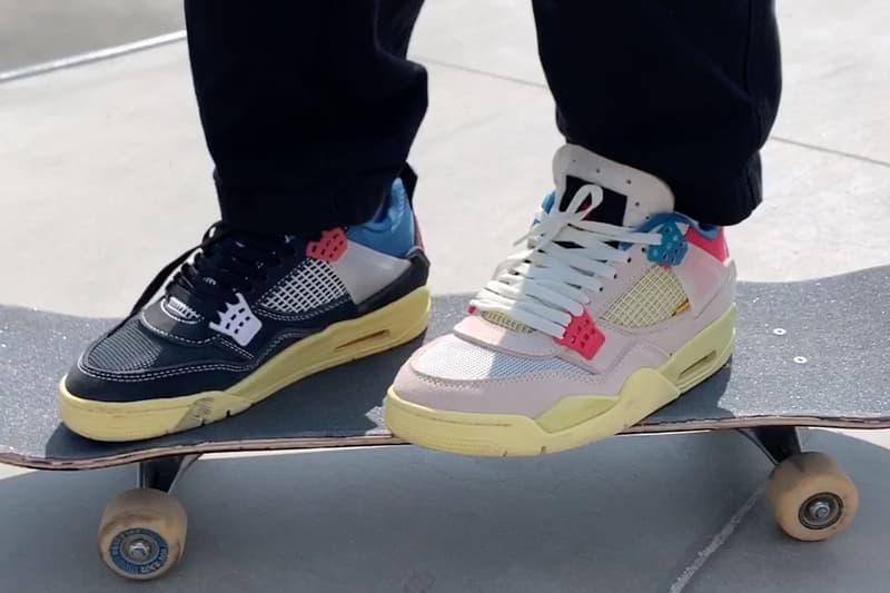 Burberry.Erry Erik Arteaga Skates Union Air Jordan 4 Off-Noir Guava Ice video
