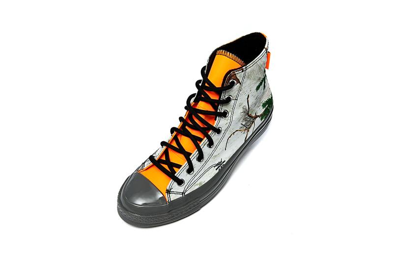 converse chuck taylor 70 hi pack gore tex brown black lemon venom yellow orange white camouflage tree pattern fall winter 2020