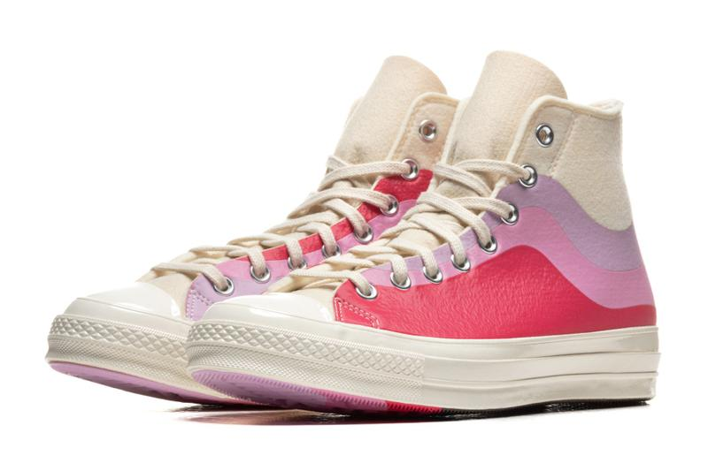 Converse Chuck 70 Hi Nor'Easter Felt Pack Winter White Pink Lavender Starlight Blue Love Potion Storm Front Yellow Cream Easter Sneaker Release Date Drop Information Closer First Look Chucks Kicks Cons