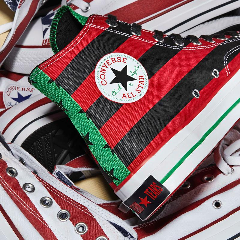 Denim Tears x Converse Chuck 70 Sneaker Collaboration taylor all star african american flag release date info buy