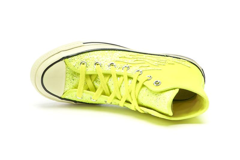 "Converse Chuck 70 Hi ""Glitter Shine"" ""Lemon Venon/Egret/Black"" 569388C  Sneaker Release Information All Star Cons Drop Date Closer Look"
