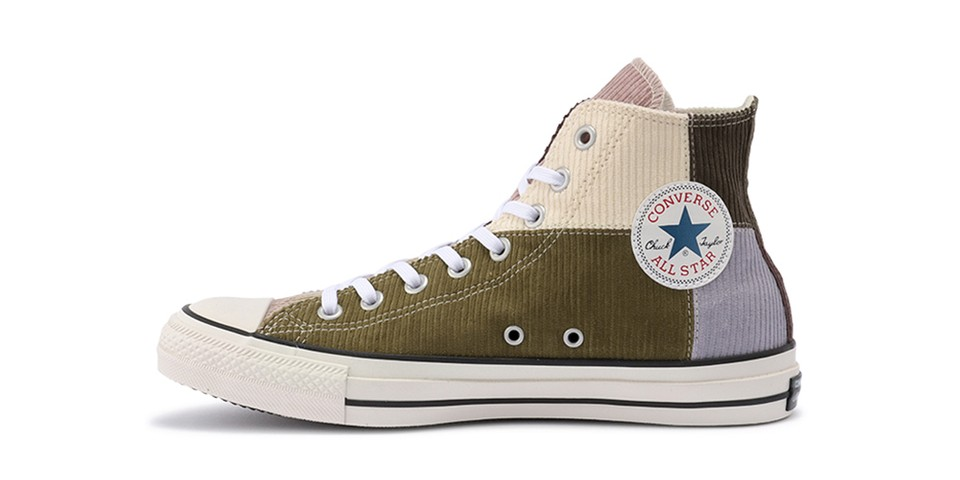 "Converse Japan Updates Chuck Taylor All Star Hi Corduroy In Fall-Ready ""Gray/Brown"""