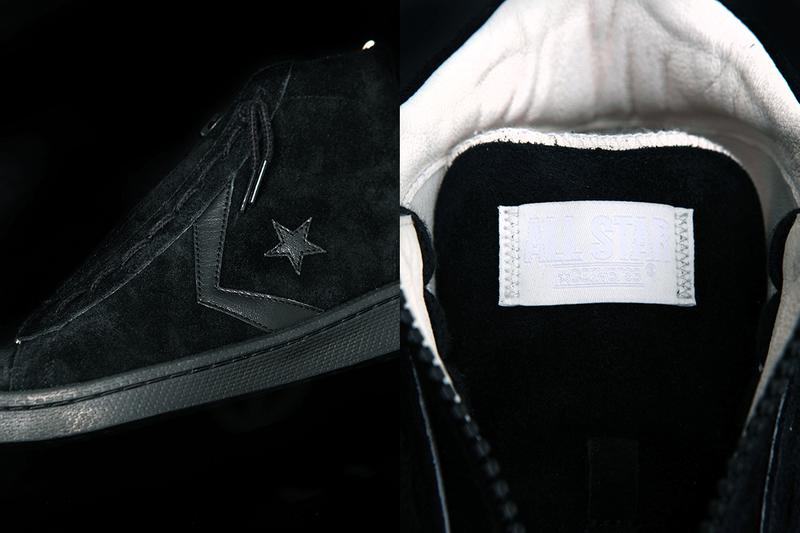 converse pro leather hi nonnative black white zip middle center release information buy cop purchase japan coverchord