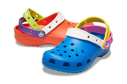 "Crocs Celebrates ""Croc Day"" With Triple Strapped Multicolor Clogs"
