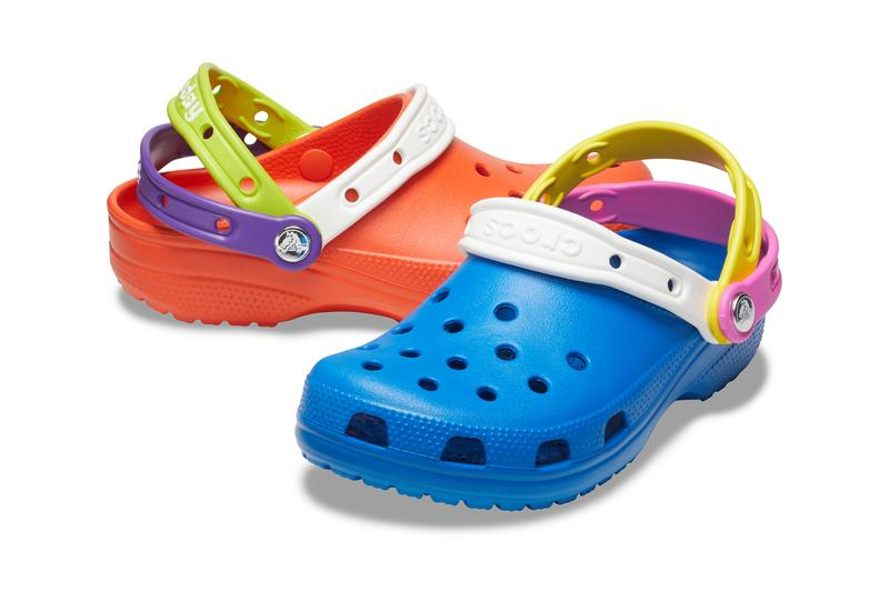 crocs croctober crocs day 2020 triple strap multicolor clog blue white pink purple yellow orange official release date info photos price store list buying guide