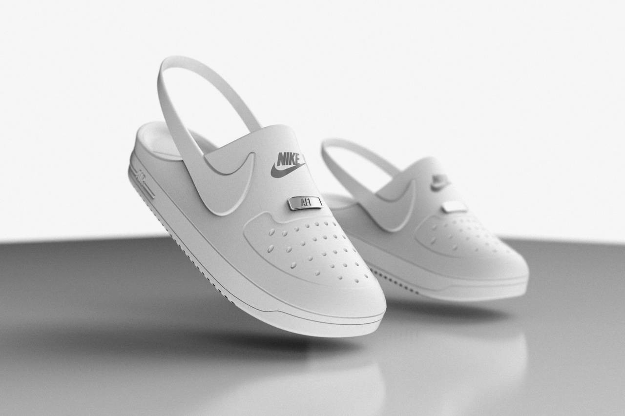 Crocs x Nike Air Force 1 Imagined as