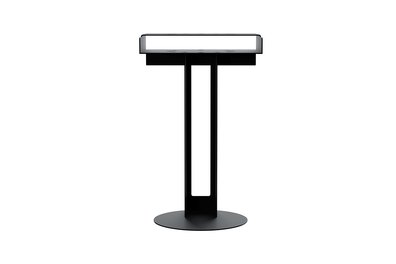 etudes new tendency meta side table release information blue black white raw metal european flag details