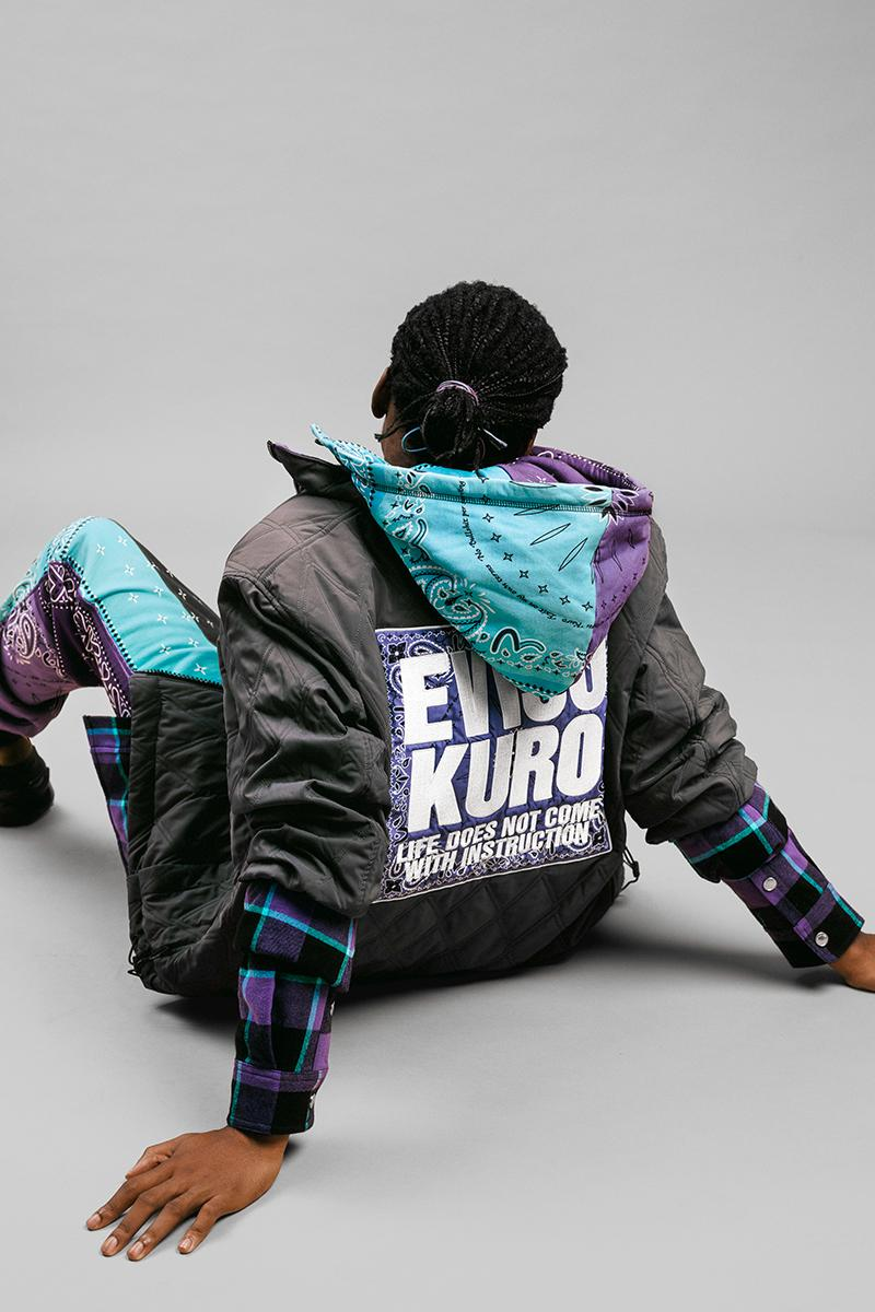 EVISU Fall Winter 2020 Lookbook menswear streetwear fw20 jeans denim japanese brand evergreen kuro jackets outerwear parka