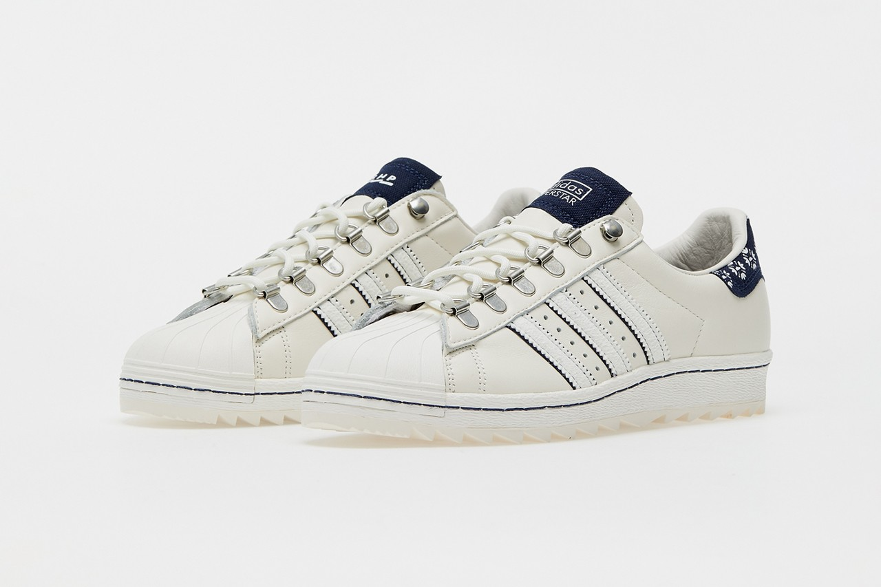 footshop adidas superstar blueprinting cream navy blue hiking Q46492 official release raffle date info photos price store list buying guide