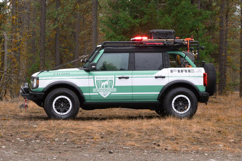 Filson x Ford Bronco Wildland Fire Rig Bronco Concept soft goods fireproof suvs off-roading National Forest Foundation custom cars
