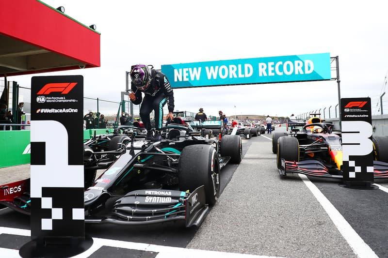 lewis hamilton formula 1 portigual portimao michael schumacher 92 race wins world record broken
