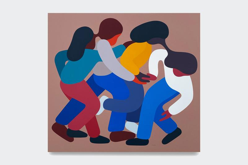 geoff mcfetridge these days are nameless exhibition paintings artworks art